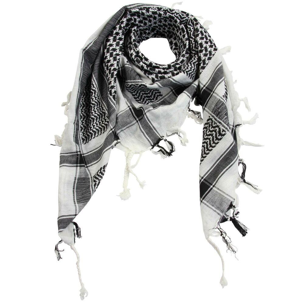 Arafatschal TUCH in weiß blau Palituch Kufiya Halstuch Schal Klassiker Pali