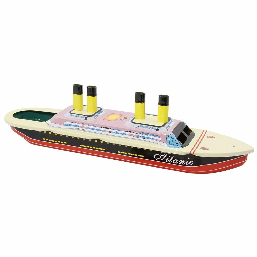 Blechspielzeug Boot Mini Litho Kerzenboot 10 Pop Pop Knatterboot aus Blech