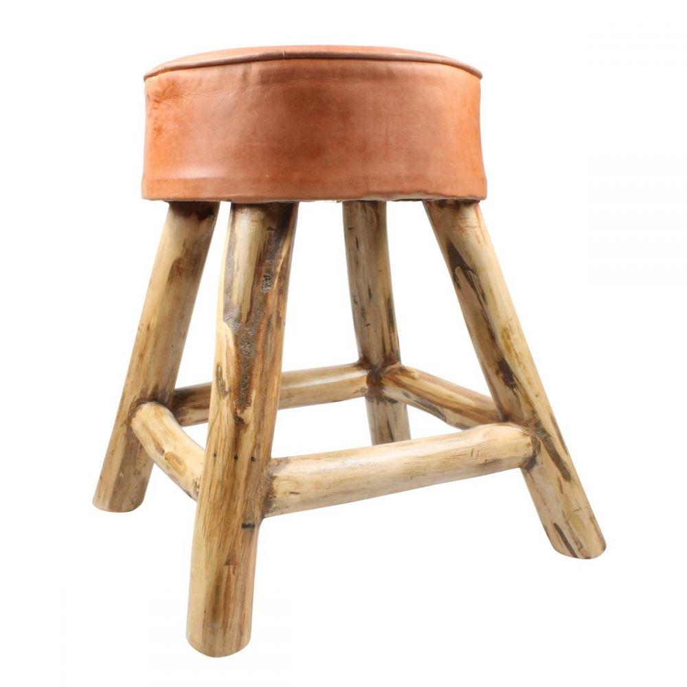 Hocker Aus Leder Holz Sitzmöbel LEDERHOCKER Bedruckt