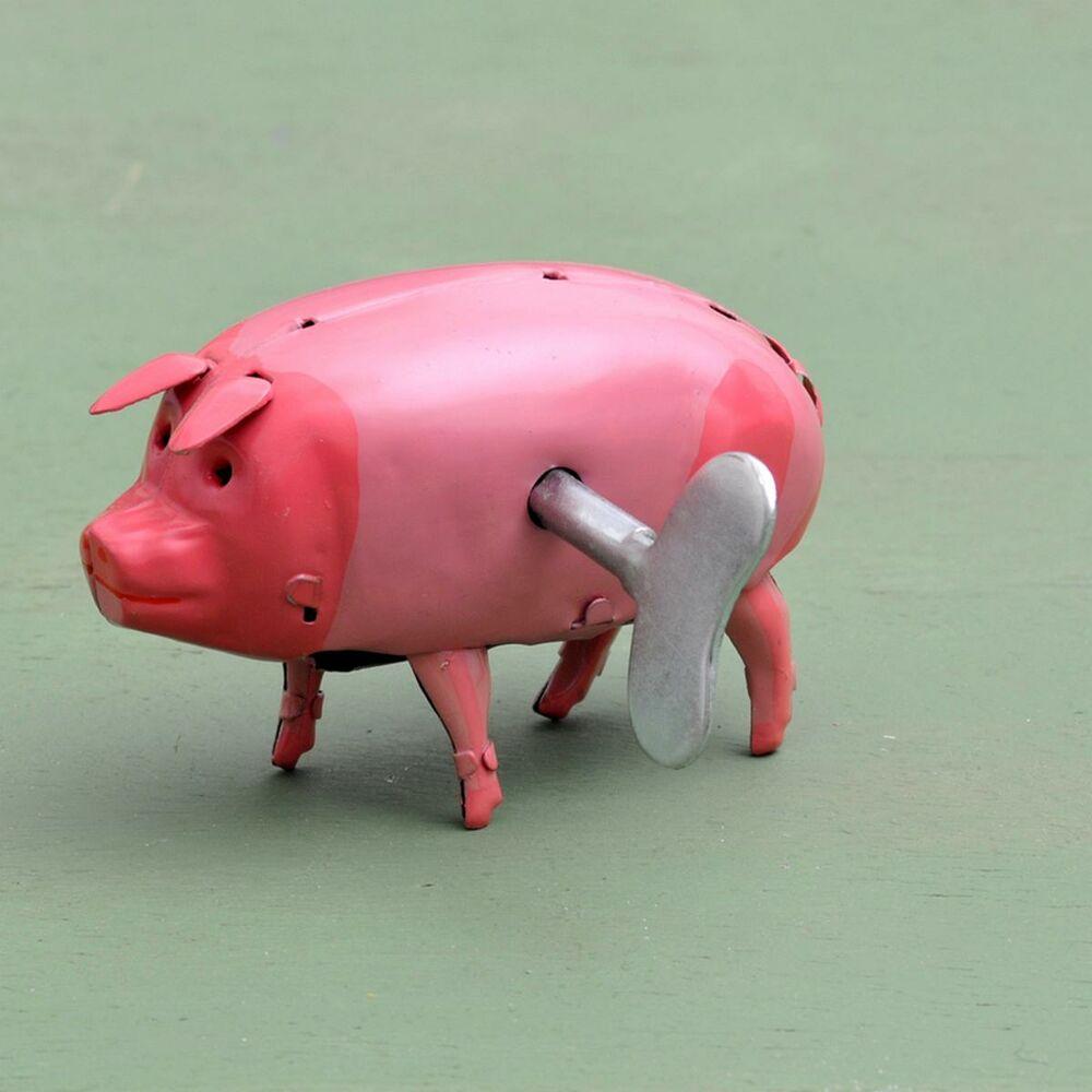Blechspielzeug Schwein Polly mit roter Schleife  5457066
