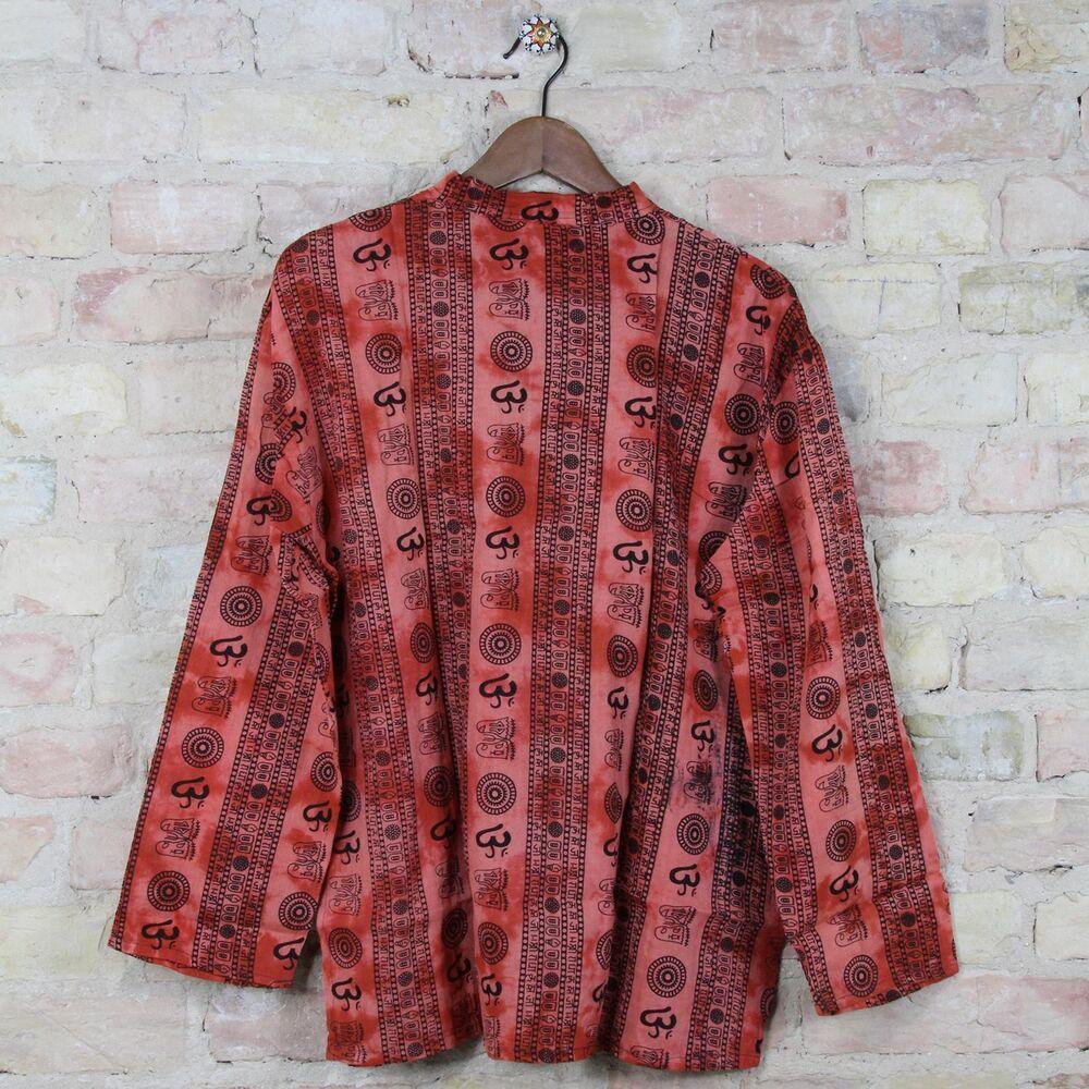 T Shirt Batik Baumwolle Celtic Rot Indien Goa Hippie Psy Trance Gr.L Herren