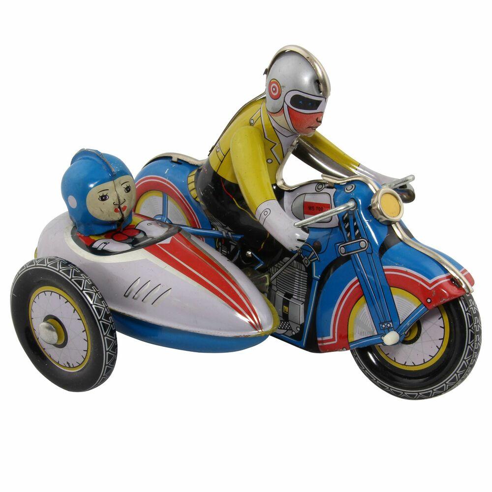 rot  4090450 Motorrad mit Beiwagen Blechspielzeug