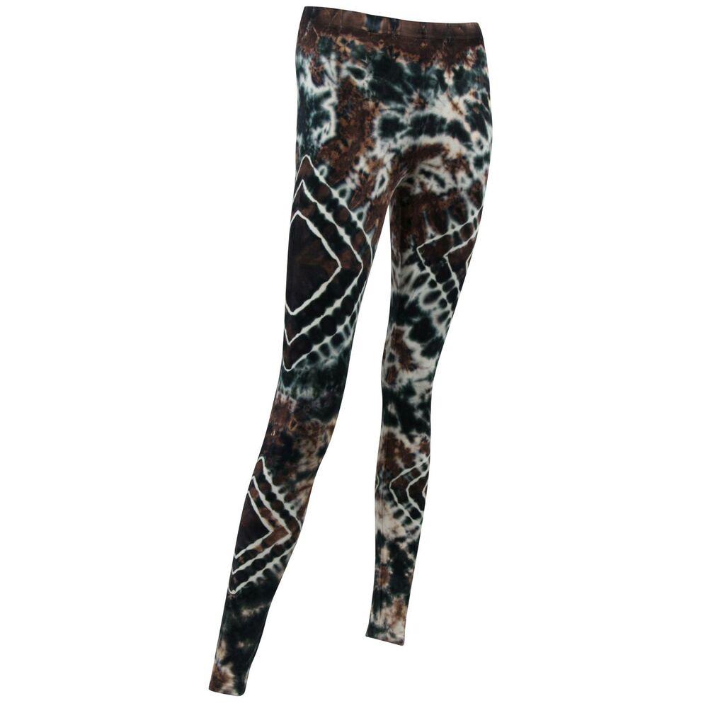 Leggings Batik Muster 02 schwarz kirschrot Tie-Dye Yoga Festival Goa Meditation