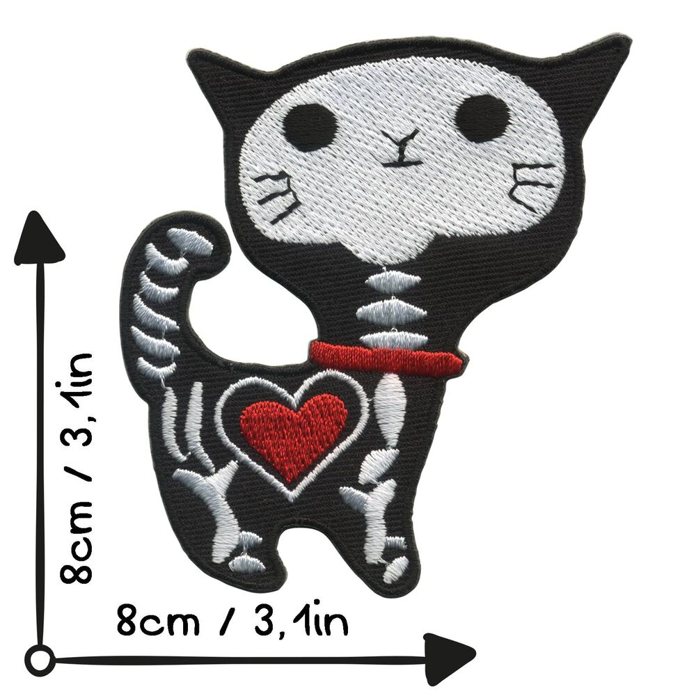 Katze Kinder Tier pink 4.6 x 8 cm Aufnäher // Bügelbild