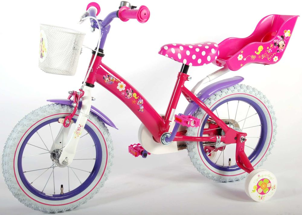 kinderfahrrad disney minnie mouse 14 zoll kinder fahrrad. Black Bedroom Furniture Sets. Home Design Ideas