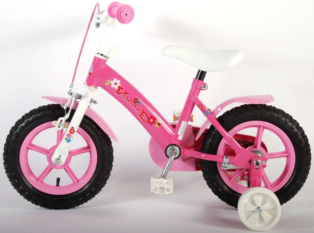kinderfahrrad yipeeh flowerie 12 zoll pink kinder fahrrad. Black Bedroom Furniture Sets. Home Design Ideas