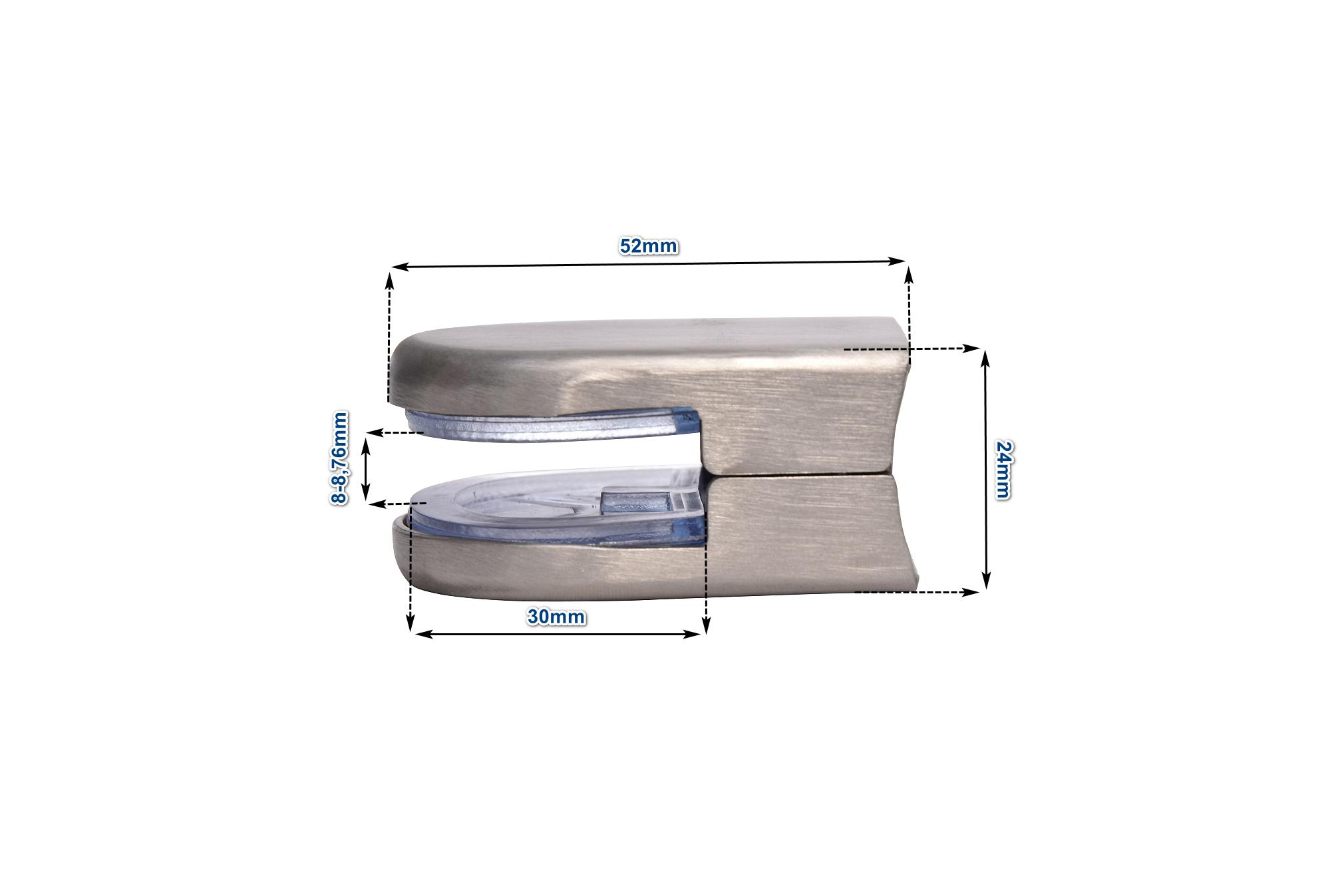 Glashalter Klemmhalter Glasklemme Edelstahl Scheibensicherung eckig rund V2A