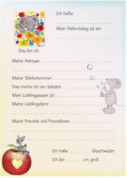 Freundebuch Kindergarten A5 Bärbel Haas