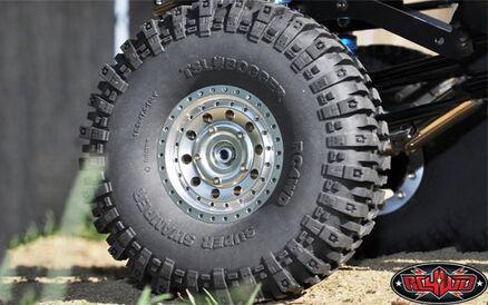 2Stück 1//10 RC 4WD TSL bogger Crawler Reifen Tire 121mm für RC 1.9 Beadlock Rim