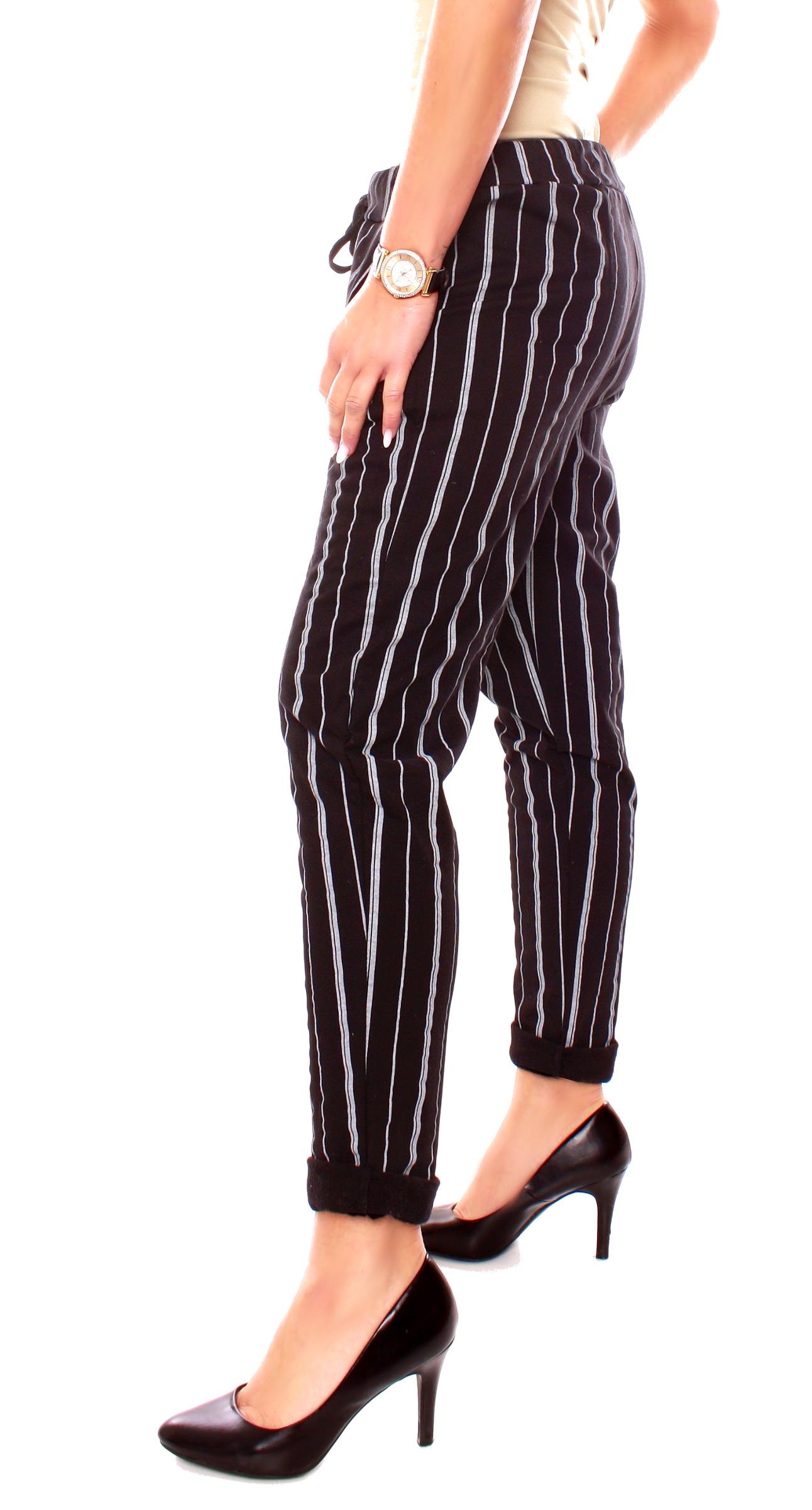 Damen Thermo Joggpants Thermojoggpants Gefleect Karo Glencheck Streifen Muster