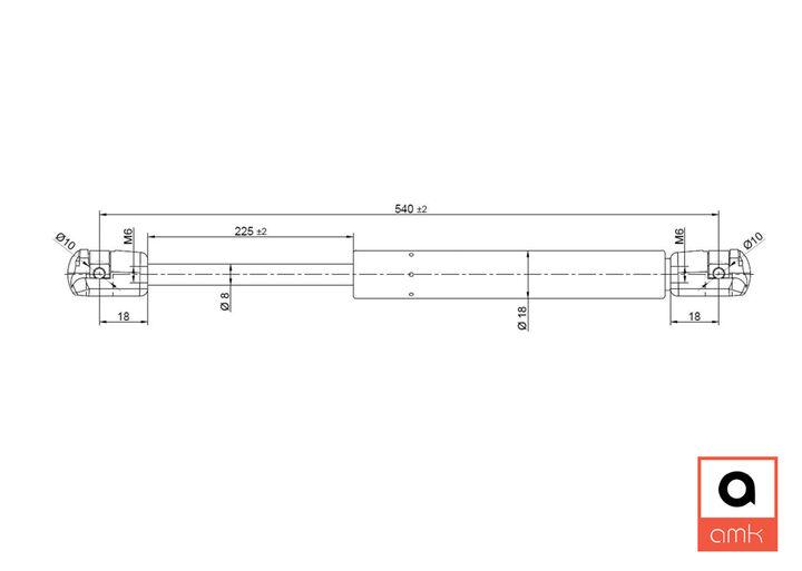 140 910 0058 Teil Nr Meyle Ersatz Fronthaube Gasdruckfeder ram / Spring