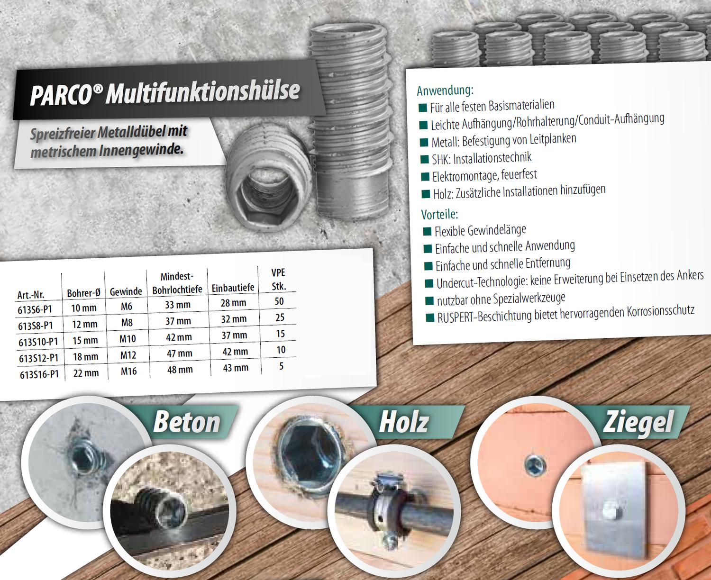 Lot de 10/manchons M6/x 20//à filetage M12/x 50/6/pans en acier inoxydable A2