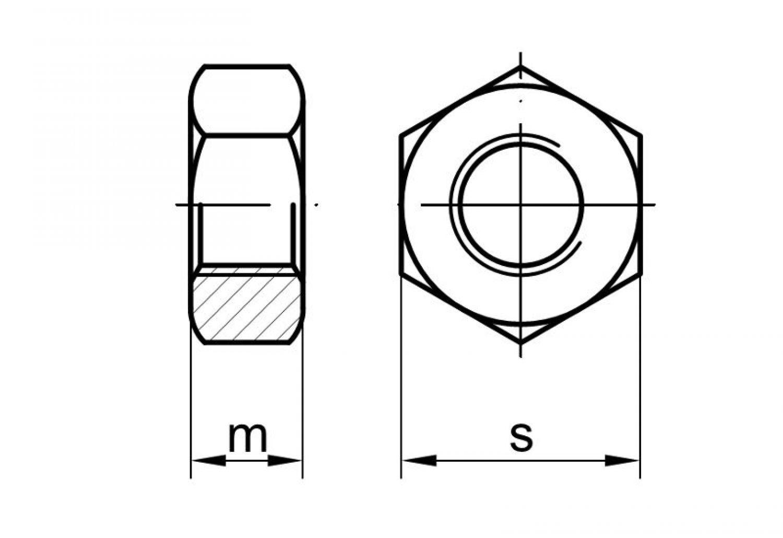 Feingewinde 1,5 10 Stk DIN 934 Sechskantmutter Stahl M12-M42 Festigkeit 10