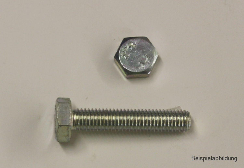 2 Stk Sechskantschraube DIN 933 8.8 M14 x 120