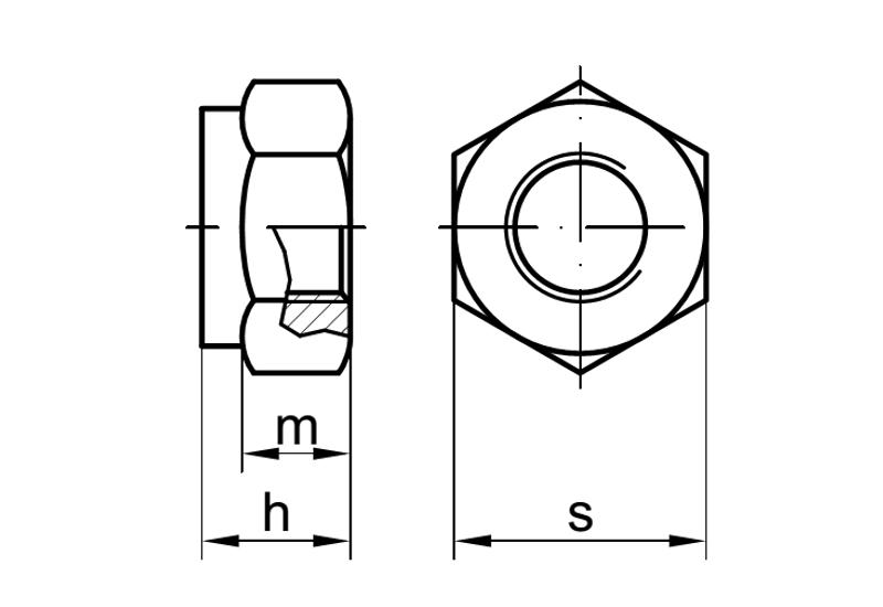 5 Stk DIN985Sicherungsmutter Stahl10 verzinkt-Feingewinde 1,5-Festigkeit-M12-M24
