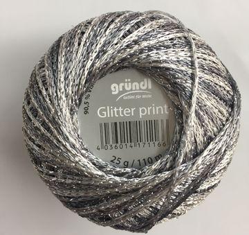 19,20 EUR//100 g Gründl Glitter print,Häkelgarn Glitzergarn 25 gr stricken häk