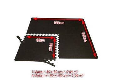 Pro4 Sportmatten Pro Grip 80x80x1cm 10mm Puzzlematten Sportboden Poolmatten