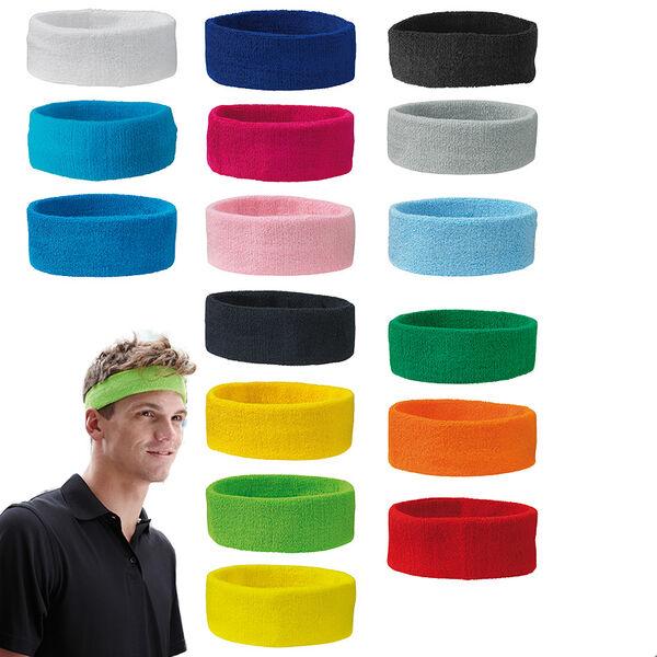 Schweißband Stirnband  Headband Frottee Unisex NEU