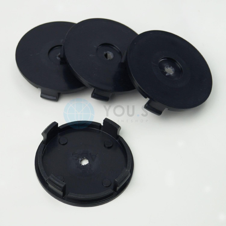 schwarz 8 x YOU.S Nabenkappen Nabendeckel Felgendeckel 54,0-52,0 mm