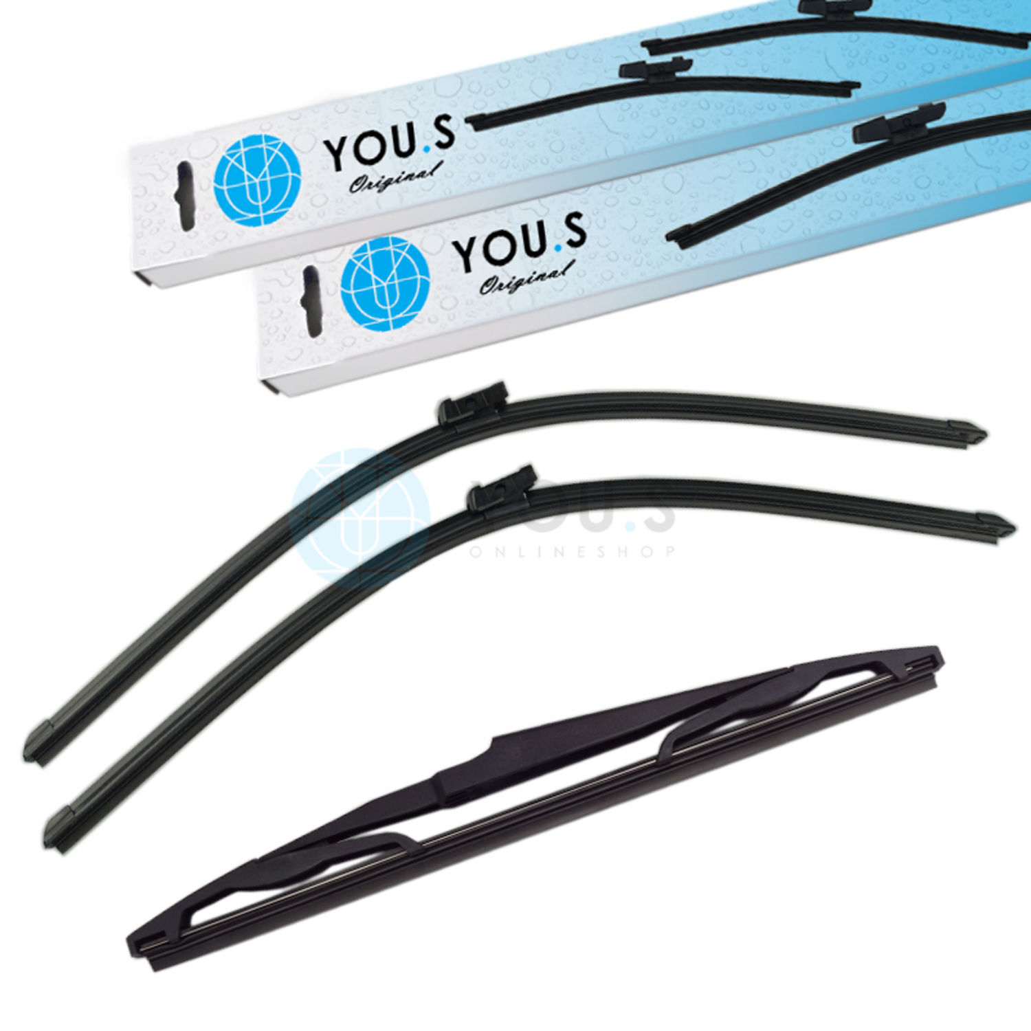 Details about You.S Original Windshield Wiper Set Front+Rear For Opel Astra J GTC New