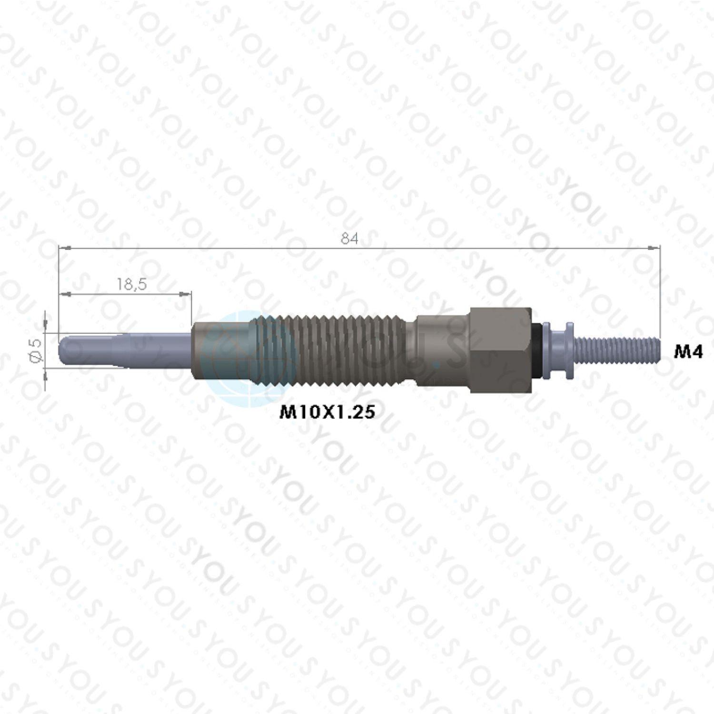1 Pièces YOU S Original bougie de prechauffage pour NISSAN 11065-g5501