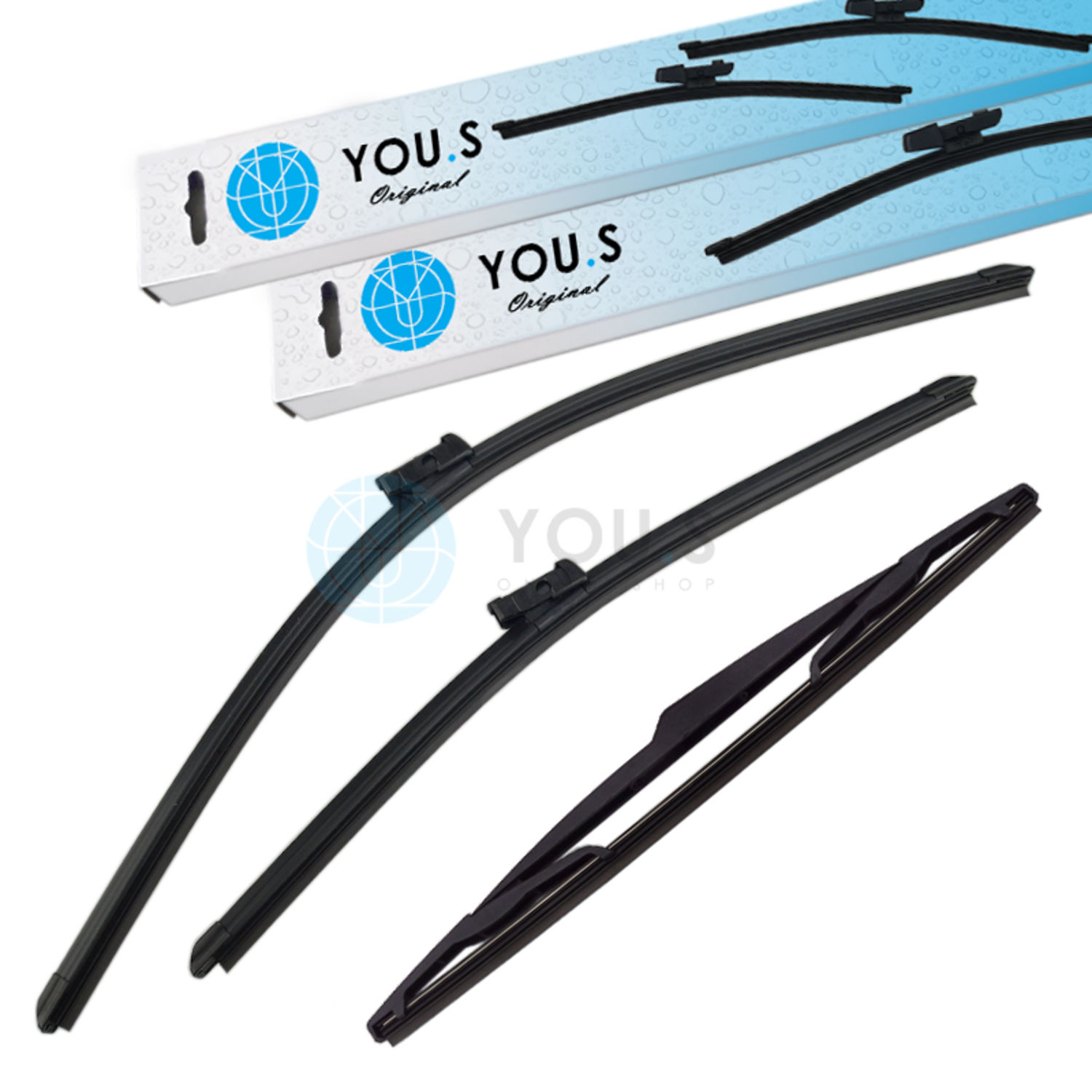 Details about You.s Original Windshield Wiper Set Front+Rear for Alfa Romeo Giulietta (940)