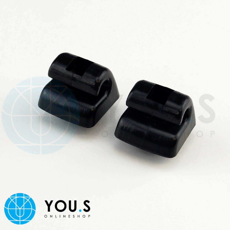 2 x Blaue Sonnenblenden Halter Klammer für MERCEDES W201 W123 W124 W126 NEU