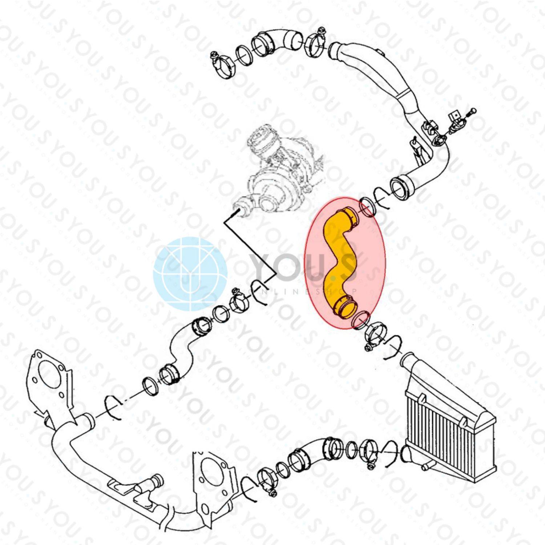 8E/_, B6 SET 1.9 TDI YOU.S Original Ladeluftschlauch für AUDI A4 // A4 Avant