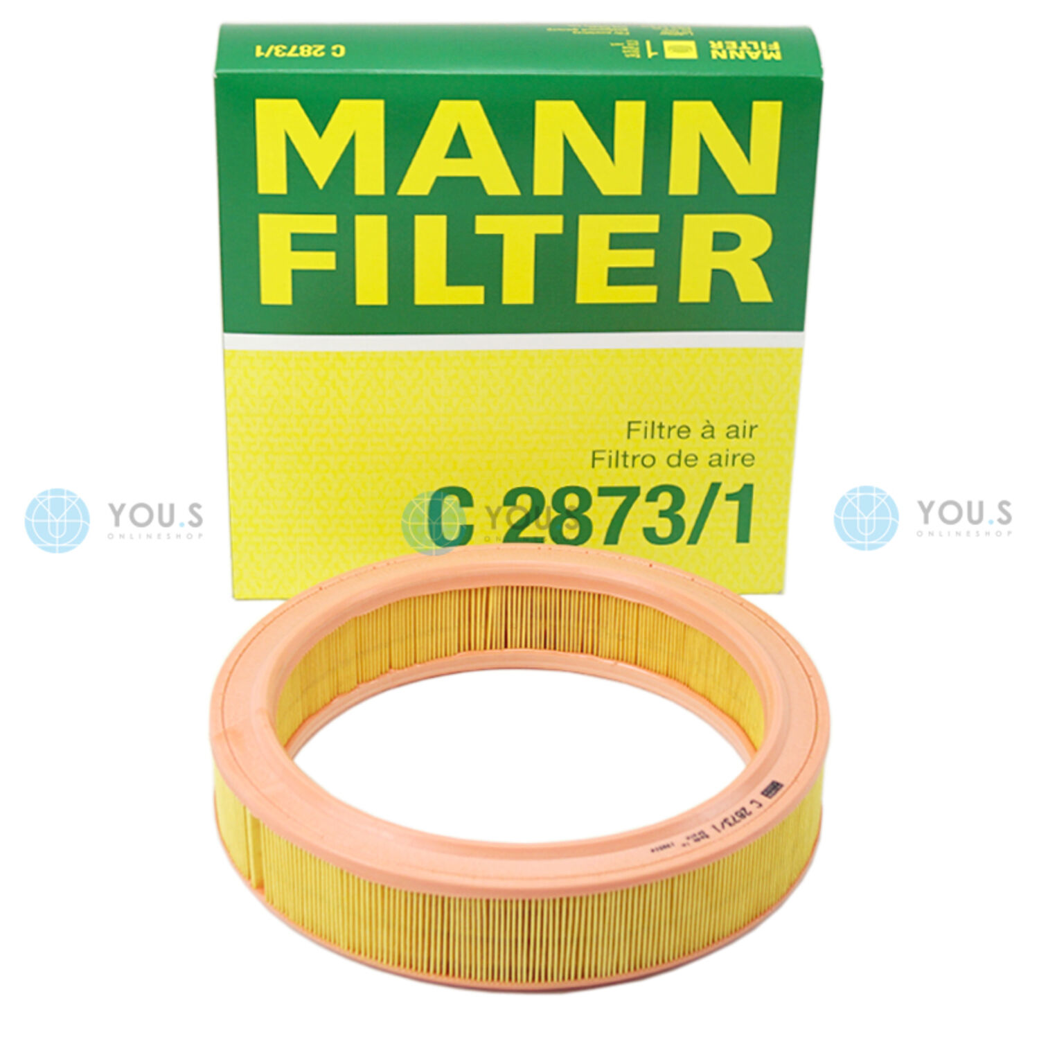 VW Polo 9N 1.4 16V Genuine MANN Engine Air Filter Service Replacement