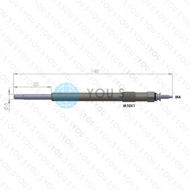 250 2.2 HDi//D 4 Stück SVAC® OEM-Q Glühkerze für CITROËN JUMPER FIAT DUCATO