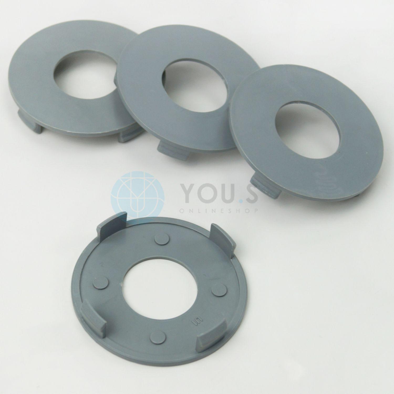 4 x NABENKAPPE NABENDECKEL FELGENDECKEL 74,5 mm Grau AA01L