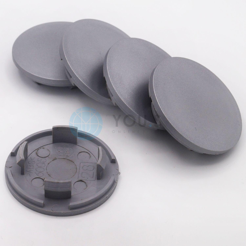 4 x Nabenkappen Nabendeckel Felgendeckel 59,0-55,0 mm silber