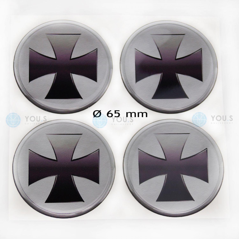 4 COPRIMOZZO in Silicone Adesivo Sticker SCORPION 56,0 mm Emblema-Nuovo