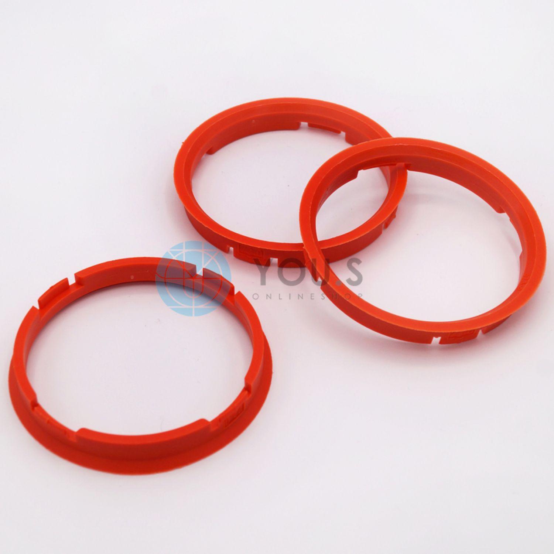 4 x Zentrierringe 76.0 auf 66.6 orange