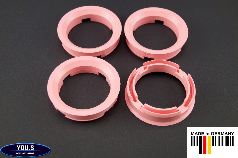 2 x ZENTRIERRINGE DISTANZRING für ALUFELGEN Z19D  72,6-57,1 mm Brock Keskin