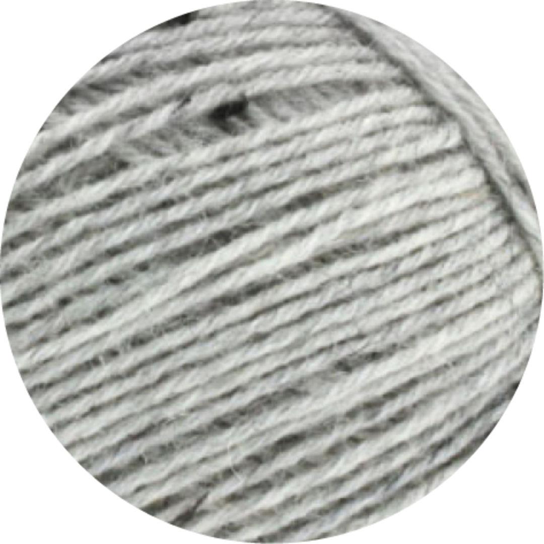 Lana Grossa Meilenweit 100 Wolle Kreativ Fb 1103 hellgrau meliert 100 g