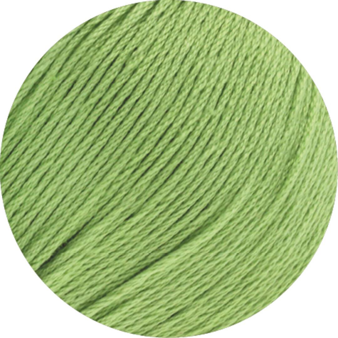 Organico GOTS Lana Grossa 81 helles stahlblau 50 g Fb Wolle Kreativ