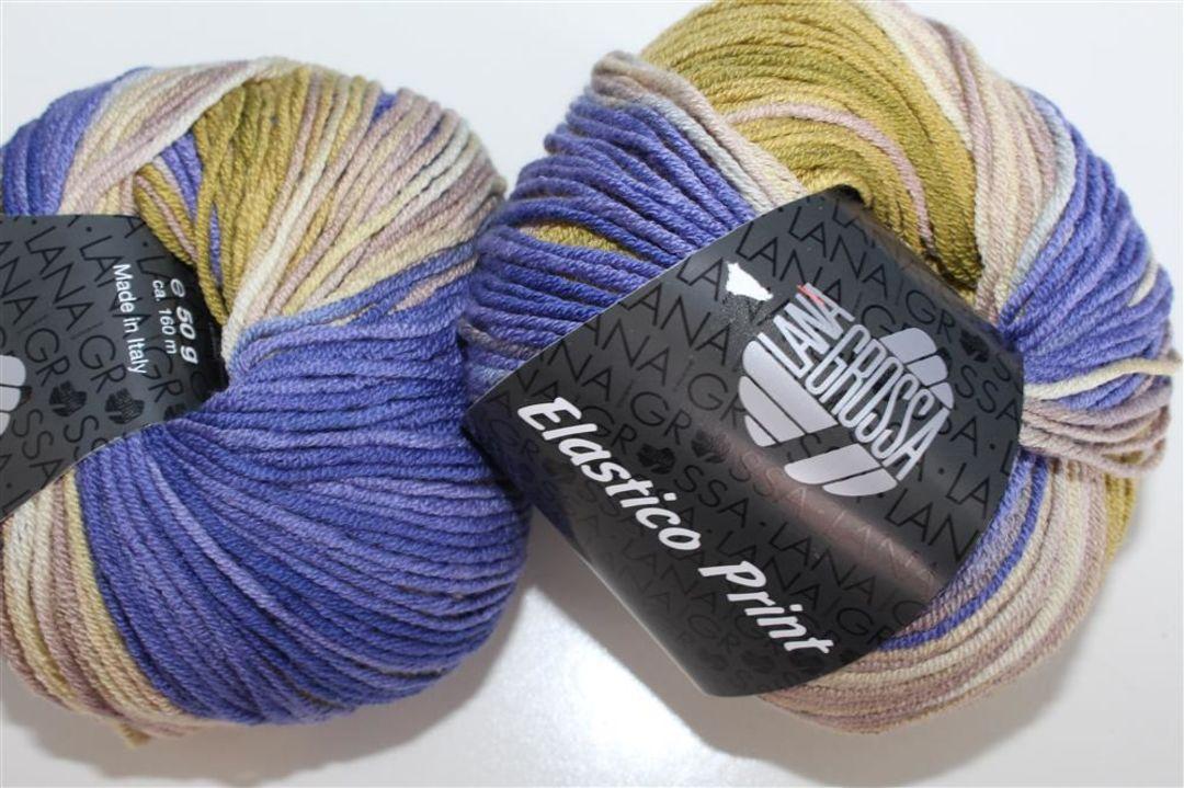 Elastico print Wolle Kreativ Lana Grossa 524 tinte//grüngrau//altrosa 50 g
