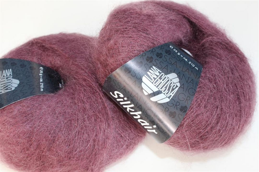 Lana Grossa Wolle Kreativ Fb Silkhair 99 burgund 25 g