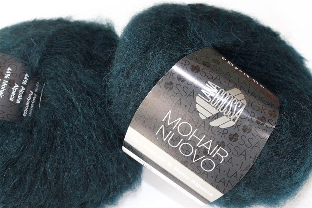 Fb 9 rehbraun 25 g Lana Grossa Mohair Nuovo Wolle Kreativ