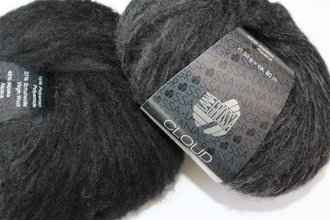 Fb Lana Grossa Cloud Wolle Kreativ 7 dunkelgrau 50 g