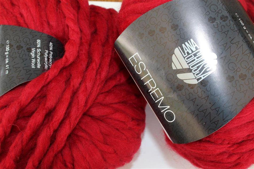 Micio Wolle Kreativ Lana Grossa 8 dunkelrot 50 g Fb