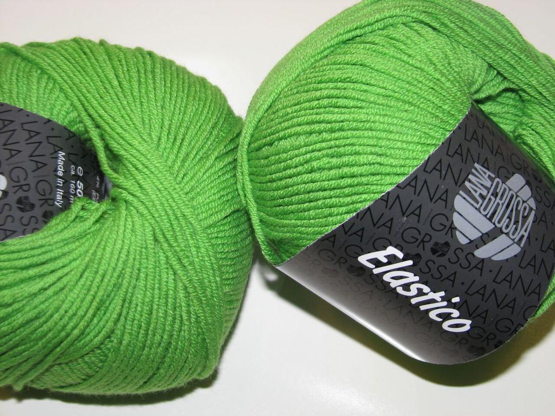 Lana Grossa Fb 116 lindgrün 50 g Wolle Kreativ Mille II