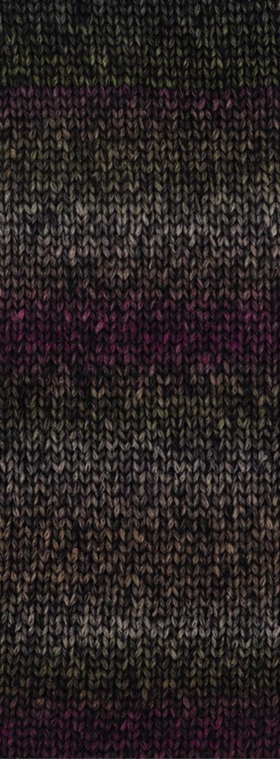Lana Grossa 7 graubraun//dunkelgrau//schwarz 50 g Wolle Kreativ Fb Piuma