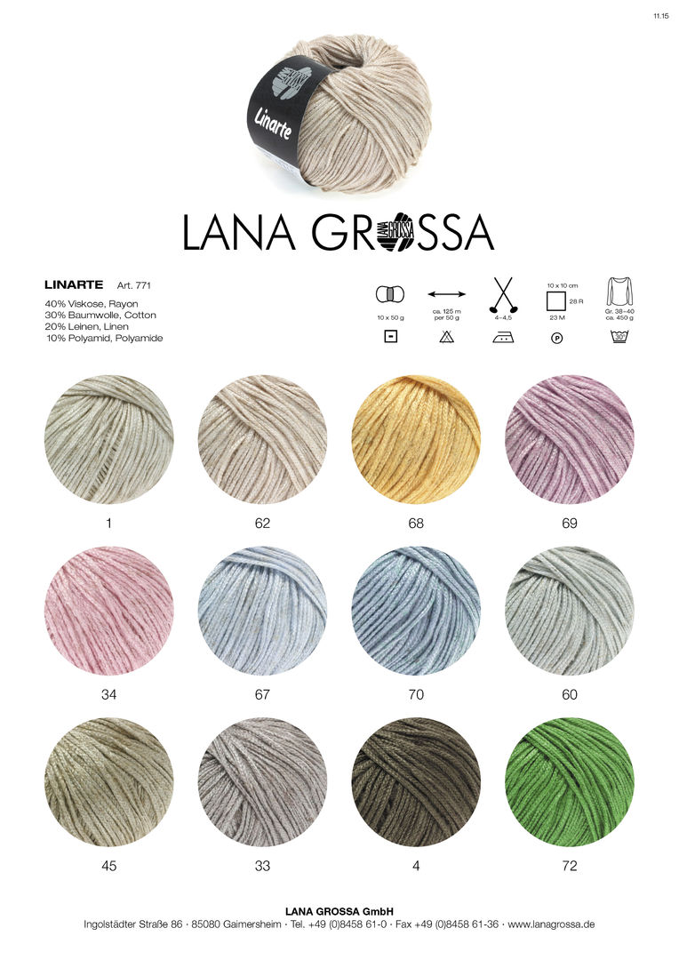 Wolle Kreativ Fb 69 flieder 50 g Lana Grossa  Linarte