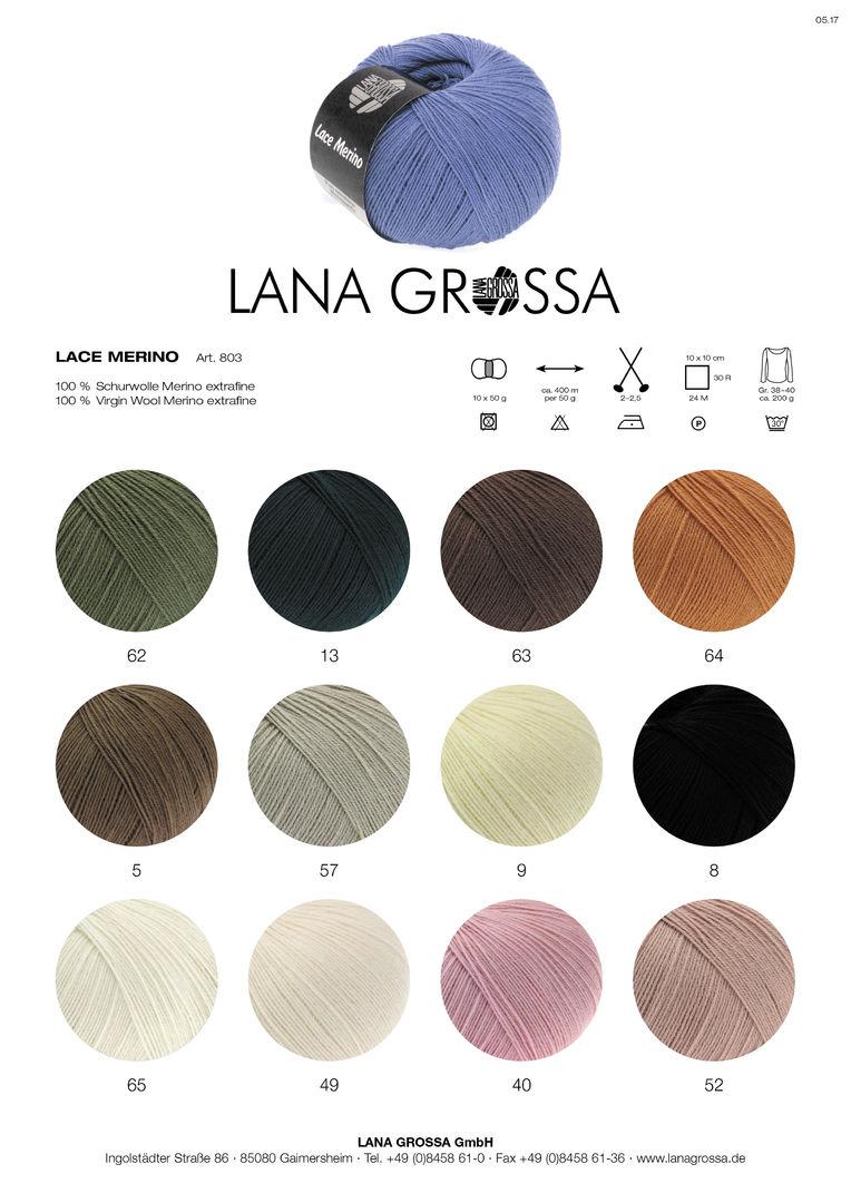 Lana Grossa Wolle Kreativ Fb Lace Merino 64 ockerbraun 50 g
