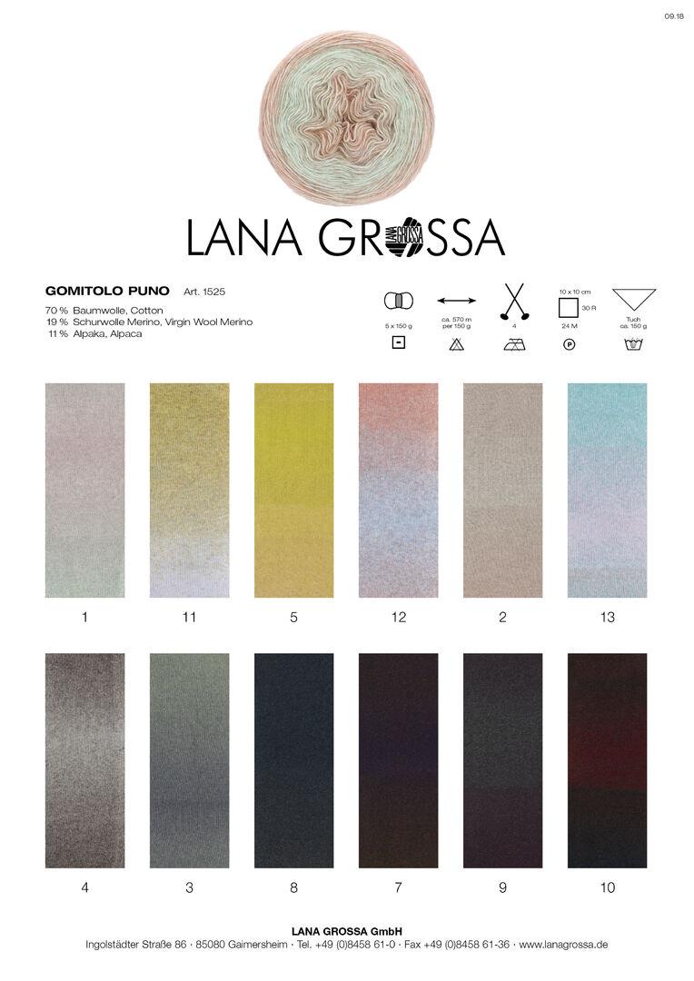 Gomitolo Puno Lana Grossa Fb Wolle Kreativ 2 beige//rosenquarz 150 g