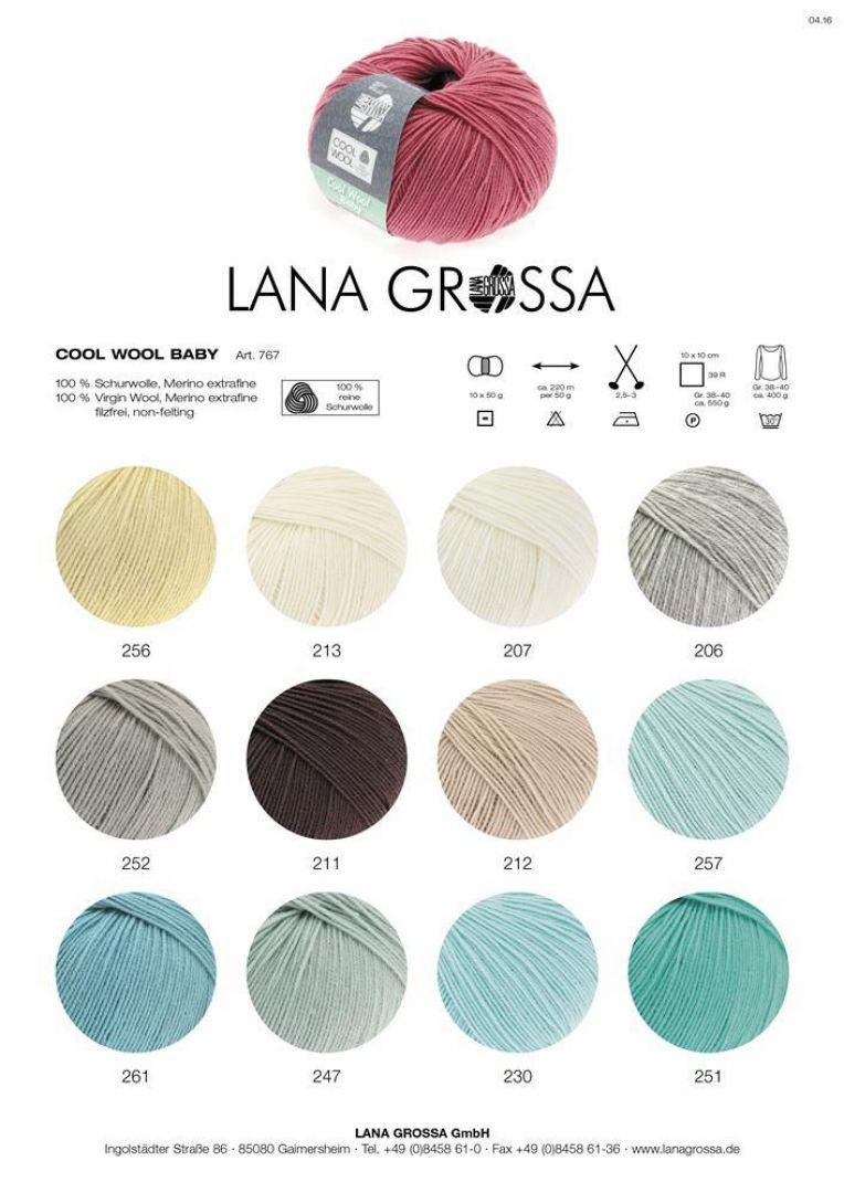 Lana Grossa Wolle Kreativ 38 graugrün 50 g Fb Classico