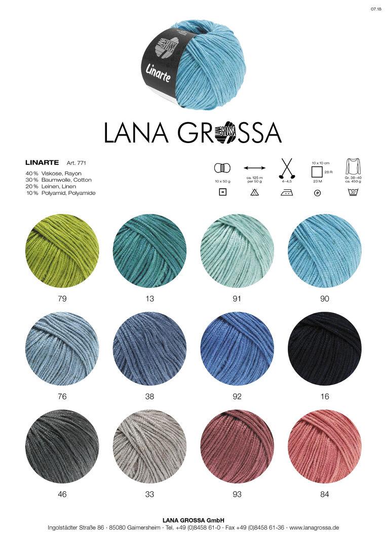 Lana Grossa 89 blasslila 50 g Fb Linarte Wolle Kreativ