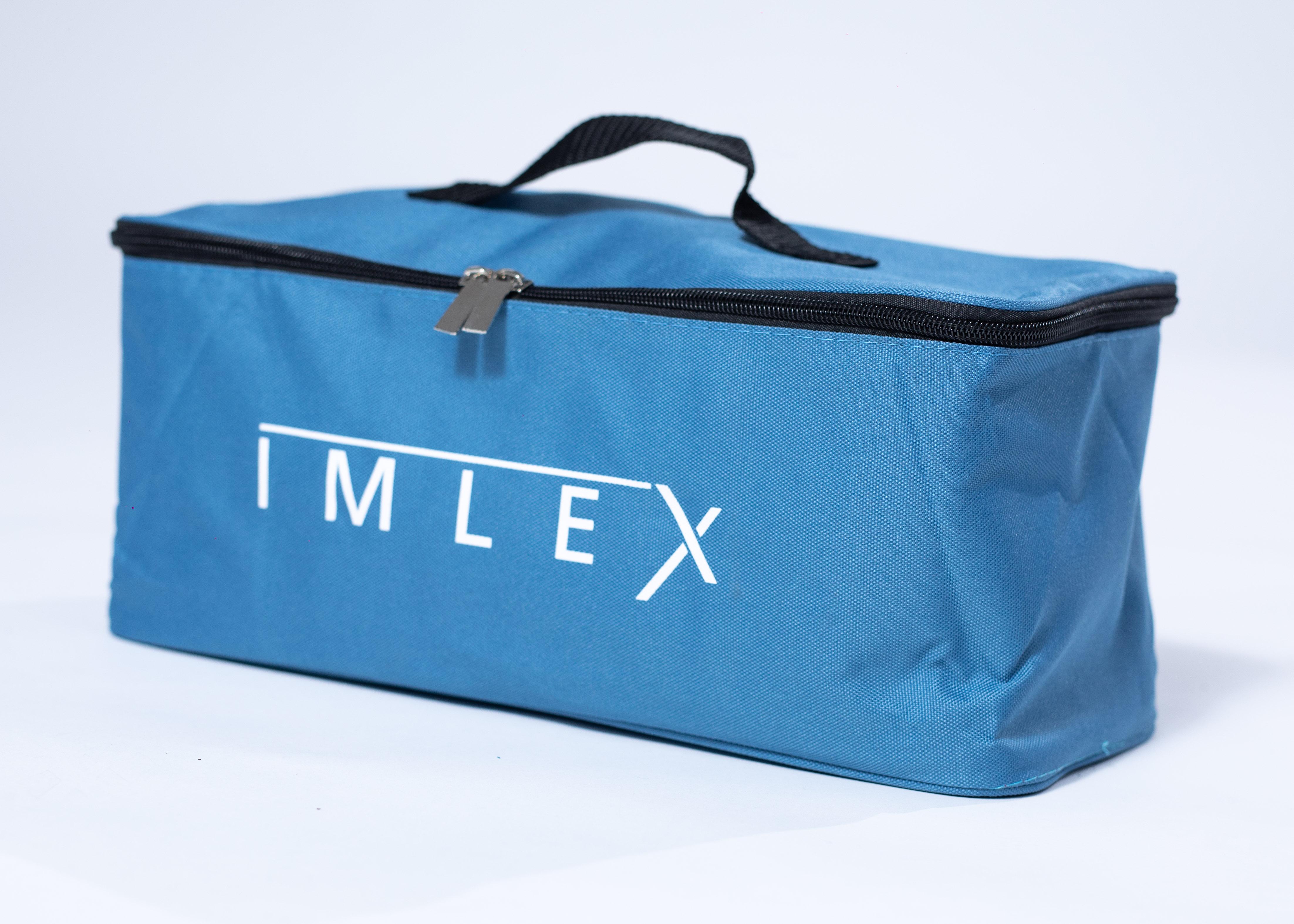 Regenschutz Wagen IMLEX Bollerwagen IM-4268  Blau//Grau Strandwagen Kühltasche